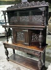 Oak Dutch/Flemish Style Victorian Cabinets (1837-1901)