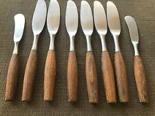6 Dansk Fjord Modern Hollow Dinner Knives stainless+ 2 Butter spreaders-4 ducks-