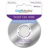 Tiger Tail Beading Wire 7-Strand .45mmX39' Silver 775749077889
