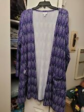 NWOT XL Lularoe Caroline Coverup Sweater Purple Chevron Cardigan