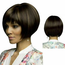 Natural Short Straight Bob Full Wig Heat Resistant Hair Wigs Hair Ombre Wigs