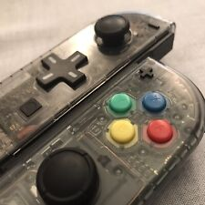 Nintendo Switch Joy Con Controller PAIR CUSTOM COLOUR with D-PAD  CLEAR GREY