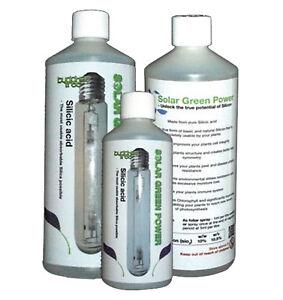 Buddhas Tree Solar Green Power Silicic Acid Plant Nutrient Hydro Soil - 500ML