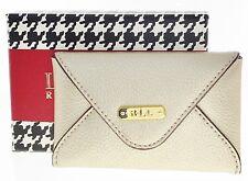 """NEW LAUREN Ralph Lauren """"Aiden"""" Envelope Card Case Wallet Gold"""