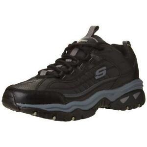 Skechers Mens Energy-After Burn Black Sneakers Shoes 9 Medium (D) BHFO 7550