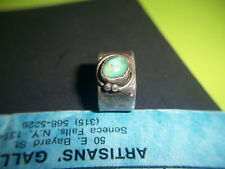 Mary Gage Sterling & Turquoise Ring-Early 1900's-Excellent Condition-w/Patina