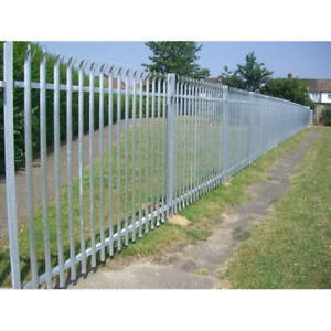 13.75mtrs (5 Bays) 2.4m high Palisade fencing Galvanised complete