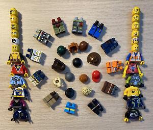 LEGO Minifigures Lot Of 12 Random! Ships Free, 12 Heads, Legs, Torsos, Headgear!