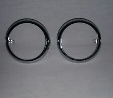 OEM Eagle Iron chrome turn signal rings FXR XL FX FXRS Robison HD Softail Dyna