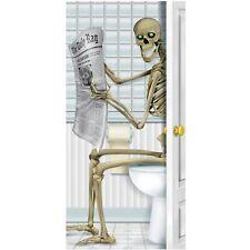 New Skeleton Restroom Door Cover Halloween Decoration