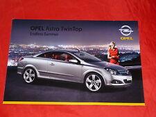 """OPEL Astra H TwinTop """"Endless Summer"""" Sondermodell Prospekt von 2009"""