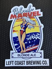 Left Coast Brewing ~ Craft Beer Sticker ~ Blonde Marvel ~ Blond Ale