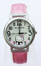 Lady Girls Kids Children Hello Kitty Pink Pearl Face Wrist Watch Christmas Gift