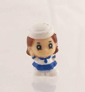 """Squinkies Mini Figure 3/4"""" Girl in Sailor Suit Skirt"""