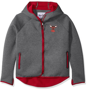 Touch by Alyssa Milano NBA Chicago Bulls Drop Kick Jacket Grey/Red Large