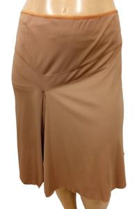Kiyonna brown ruffle look side spandex stretch women's pull on skirt  2 , 2X
