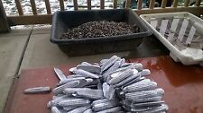 40 lb lot lead ingots from range scrap
