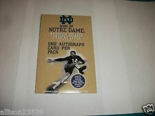 NOTRE DAME CARDS - 1 AUTOGRAPH IN EACH PACK