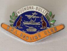 Woonona Bulli RSL Bowling Club Badge Military Design Rare Vintage (M6)