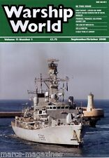 WARSHIP WORLD MAGAZINE SEPTEMBER OCTOBER 2008 HMS NATAL USS LEXINGTON LORIENT