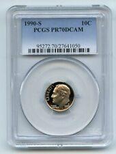 1990 S 10C Roosevelt Dime Proof PCGS PR70DCAM