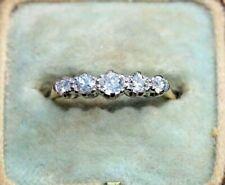 ANTIQUE VICTORIAN 18CT GOLD DIAMOND RING. SIZE M.