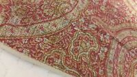 2 Yves Delorme Euro Shams Paisley Coral Gold Red EXCELLENT Moroccan Indian