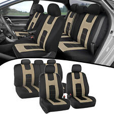 Car Seat Covers for Auto Beige New Design Poly Pro Covers Snug Semi Custom Fit