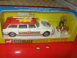CORGI 513 ALPINE RESCUE  SET ORIGINAL CAR & REPRO FIGURES IN VERY GOOD REPRO BOX