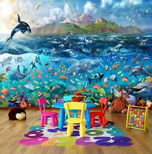 Tropical Sea Life Ocean Fishes Photo Wallpaper Wall Mural For Kids 335x236cm