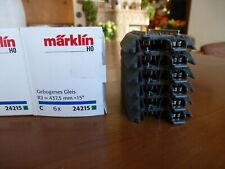 MÄRKLIN HO 5 x 24215 + 2 x 24207= 6er PACK C-GLEIS  R2 437 mm NEUWERTIG OVP