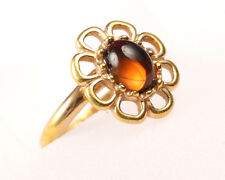 Sarah Coventry, Vintage 1960s Gold Tone Flower Ring, Size O to R Adjustable