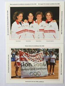 4 Entiers postaux oblitérés timbres Suisse 1998 YT CH1567 Fed Cup 1998 Tennis