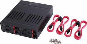 "4 x 2.5"" HDD/SSD Hot Swap SATA RAID Backplane Server 5.25 Bay Hard Disk Array"