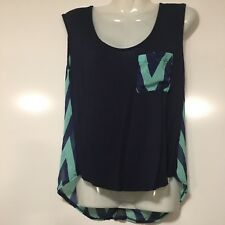 Small Cheveron Dark Blue and Turquoise Tank top from Rue 21