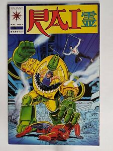 Rai #4 | VF 8.0 | Valiant 1992 |Scarce Low Print Run | Pre-Unity CB1