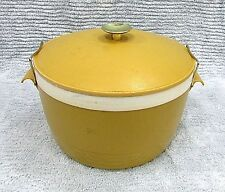 Old 1970s Sun Frost Therm-O-Ware USA Vintage Gold Plastic Ice Bucket FREE S/H