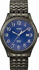 Timex T2P203, Men's Black Ion Expansion Band Watch, Date, Blue Dial,  T2P2039J