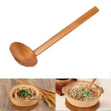 Japanese Style Large Wooden Noodles Soup Spoon Utensil Scoop Catering Ladle