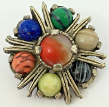 Vintage Miracle Brooch Agate Scottish (ref1)
