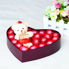 20 pcs Soap Rose Heart-shaped + Bear for Mother's Day Birthday Valentine's Day