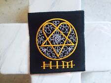 HIM Heavy Metal Thrash Grunge Pentagram Scroll Embroidered Iron On Patches Patch