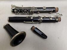 ANCIENNE CLARINETTE  EN BOIS ÉBÉNE E. GAUDET Paris France instrument musique
