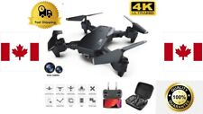 Black Professional 4k Drone 500m HD Wide Angle Camera  WiFi fpv Drone