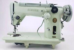 Vintage Singer 319W Sewing Machine seafoam green parts Untested