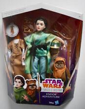 """Star Wars Princesa Leia & Wicket Figura De Acción Set 11"""" las fuerzas del destino * Nuevo *"""