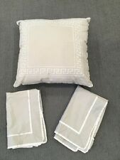 HOTEL COLLECTION Greek Key Embroidered accent throw decorative PILLOW case SET