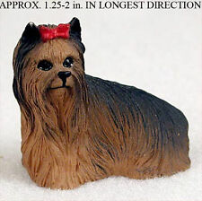 Yorkie Mini Resin Hand Painted Dog Figurine Statue Hand Painted