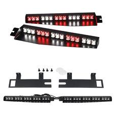 """34"""" Led Red White Visor Deck Split Warning Strobe Emergency Lights for Vehicles"""