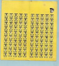 Babe Ruth Lou Gehrig Joe DiMaggio 1939 BREWER Stamp Set Hank Greenberg Rudy York